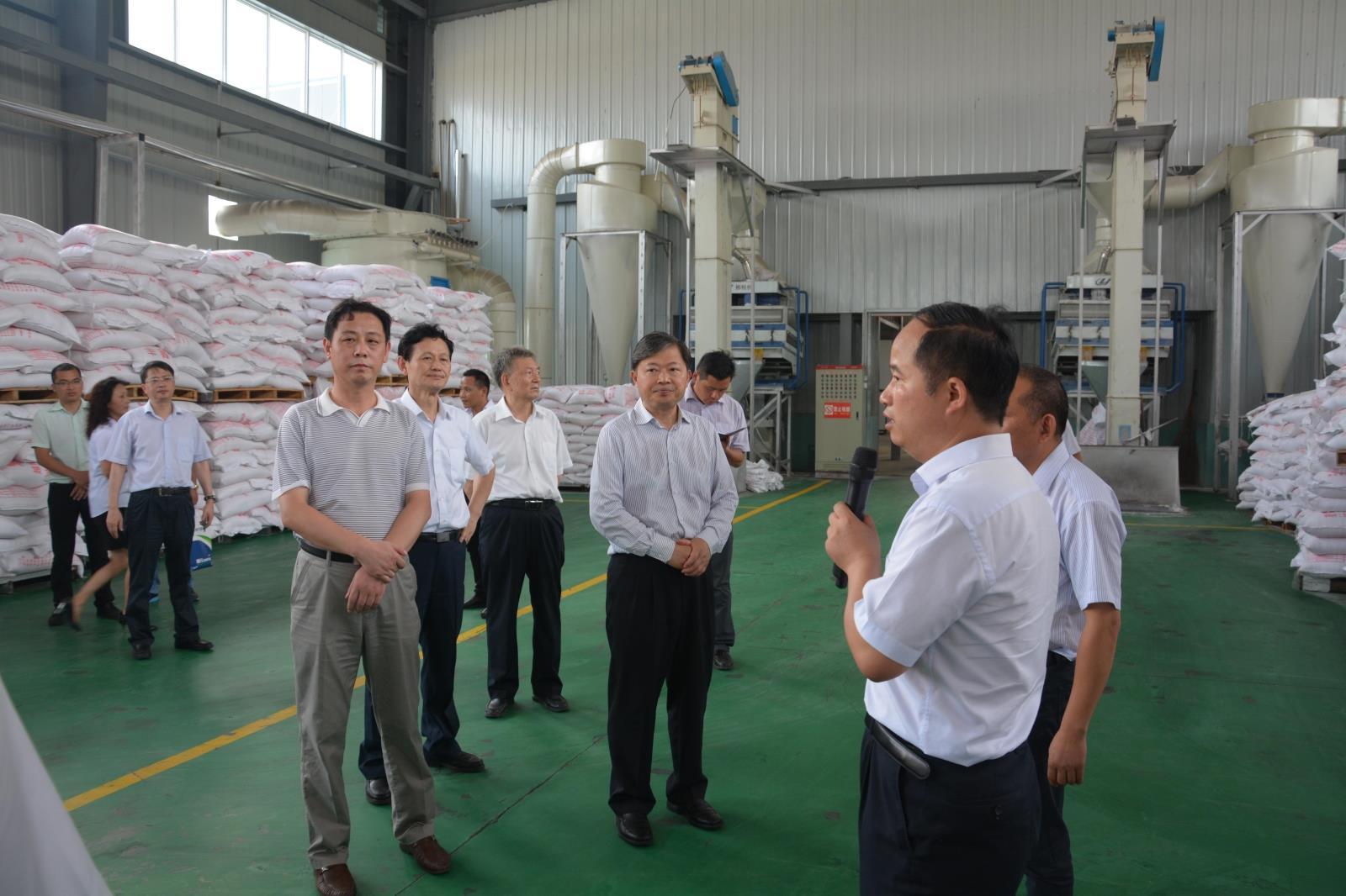 热烈欢迎滁州市委书记李明来我公司考察